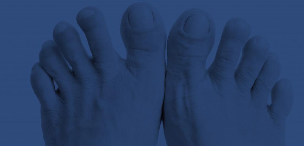 hero feet blue